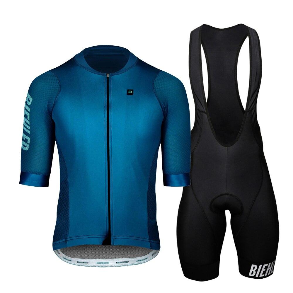 2020 Summer Pro team Short Sleeve Men's Cycling Jersey Bib Shorts Set Clothes Ropa Ciclismo Bicycle Clothing kits 4.0 gel Pad